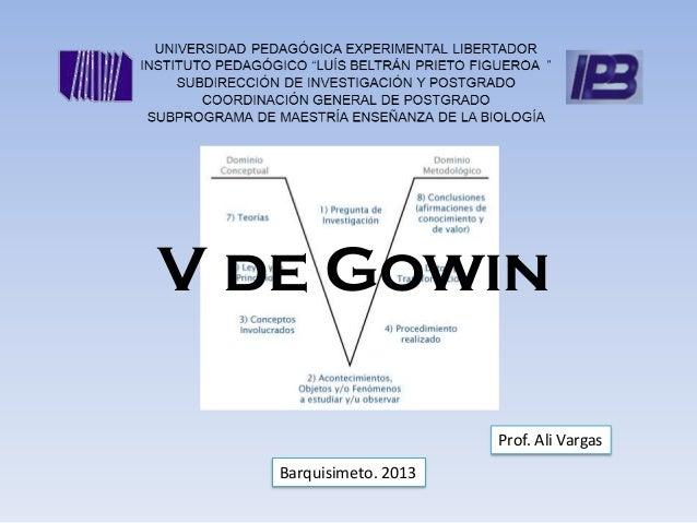 V de Gowin                        Prof. Ali Vargas   Barquisimeto. 2013