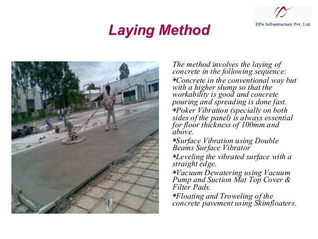 VDF- Vaccum Dewatered Flooring