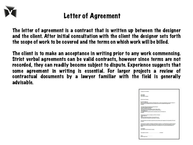 7 The Letter Of Agreement