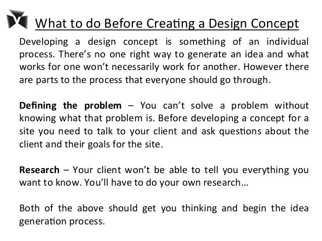 5 What To Do Before Crea8ng A Design Concept Developing