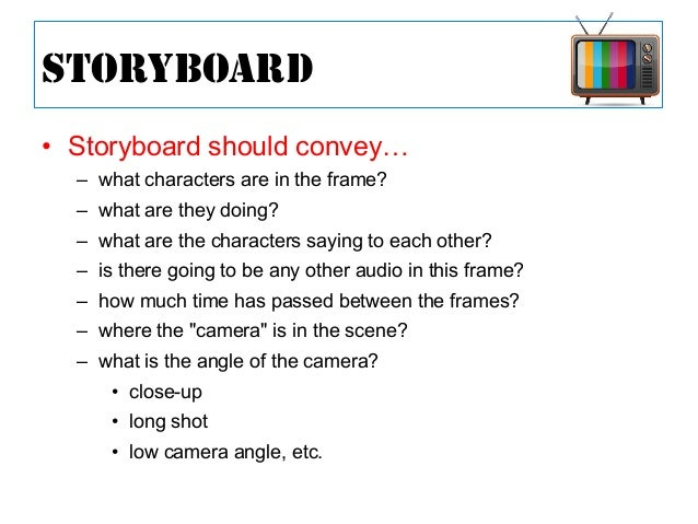 Script Storyboard If You Want To Storyboard On Your Computer You