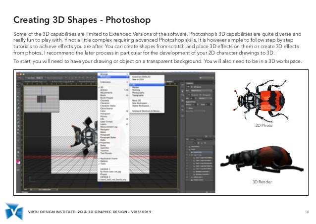 Vdis10019 2d 3d Graphic Design Basic Software Skills
