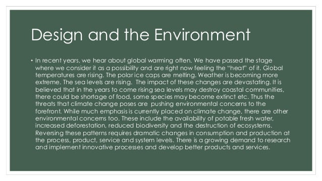 Design and the Environment - Cradle to Grave Slide 2