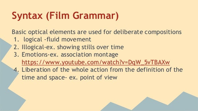 A dialectic approach to film form