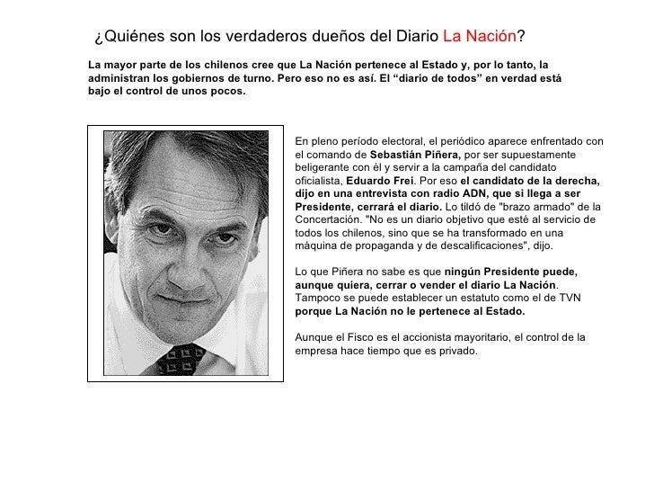 ¿Qui énes son  los verdaderos dueños del Diario  La Naci ón ? En pleno período electoral, el periódico aparece enfrentado ...