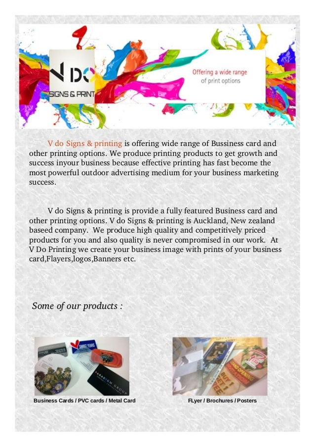 Vdo signs and printing v do signs printing is offering wide range of bussiness card and other printing options reheart