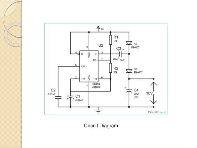 Voltage Doubler using NE 555 timer IC on