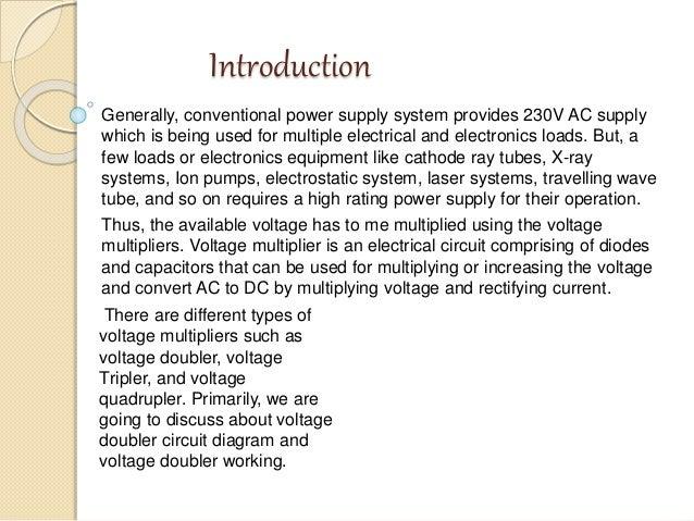 Voltage Doubler using NE 555 timer IC  Slide 2