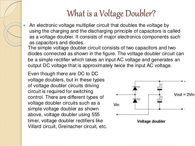 Voltage Doubler using NE 555 timer IC