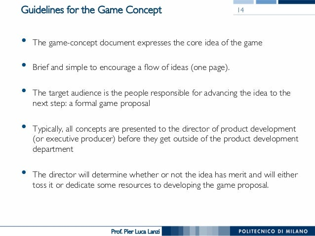 pier luca lanzi 14 guidelines for the game