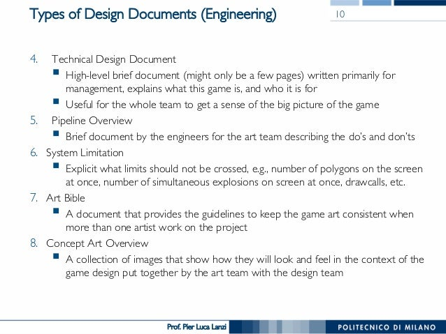 Videogame Design And Programming The Design Document - Game design doc template