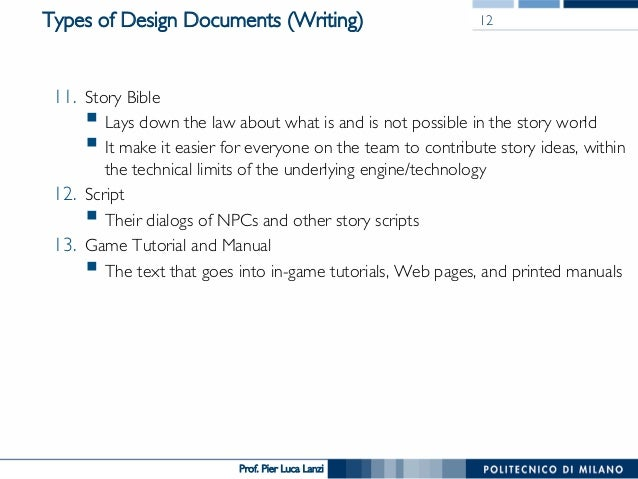 Videogame Design And Programming The Design Document - How to make a design document