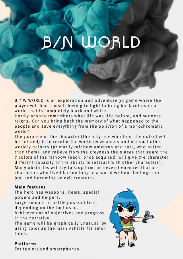 B/N WORLD B / W WORLD is an exploration and adventure 3d game where the player will find himself having to fight to bring ba...