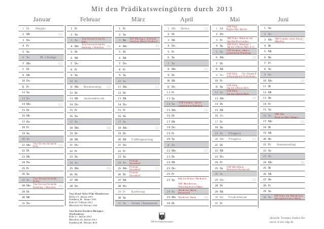 Mit den Prädikatsweingütern durch 2013        Januar                               Februar                                ...