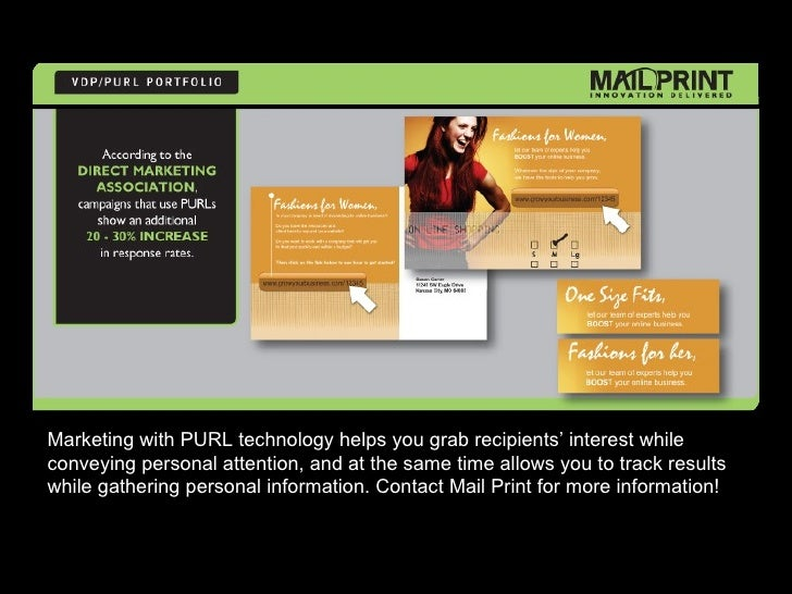 Marketing with PURL technology helps you grab recipients' interest while conveying personal attention, and at the same tim...