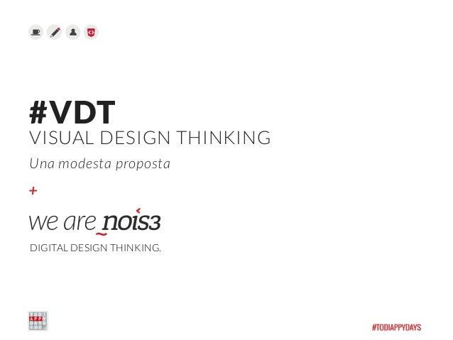 + #VDT VISUAL DESIGN THINKING Una modesta proposta DIGITAL DESIGN THINKING.