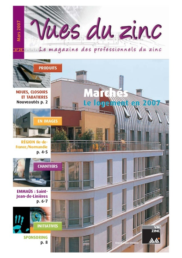 Marchés  Le llogementt en 2007  Une marque Umicore  Mars 2007  PRODUITS  NOUES, CLOSOIRS  ET TABATIERES  Nouveautés p. 2  ...