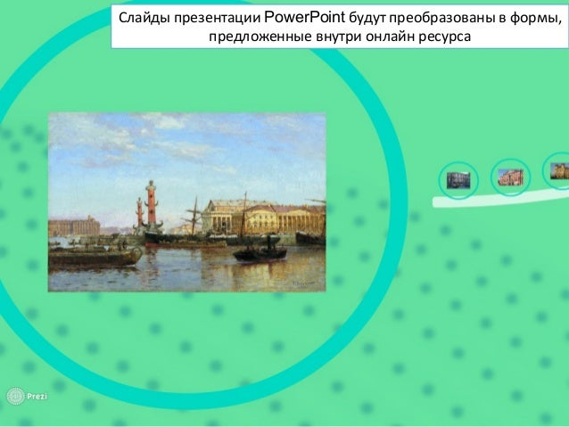 Слайды презентации PowerPoint будут преобразованы в формы, предложенные внутри онлайн ресурса