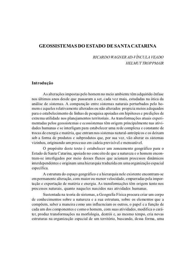 GEOSSISTEMAS DO ESTADO DE SANTA CATARINA                                      RICARDO WAGNER AD-VÍNCULA VEADO             ...