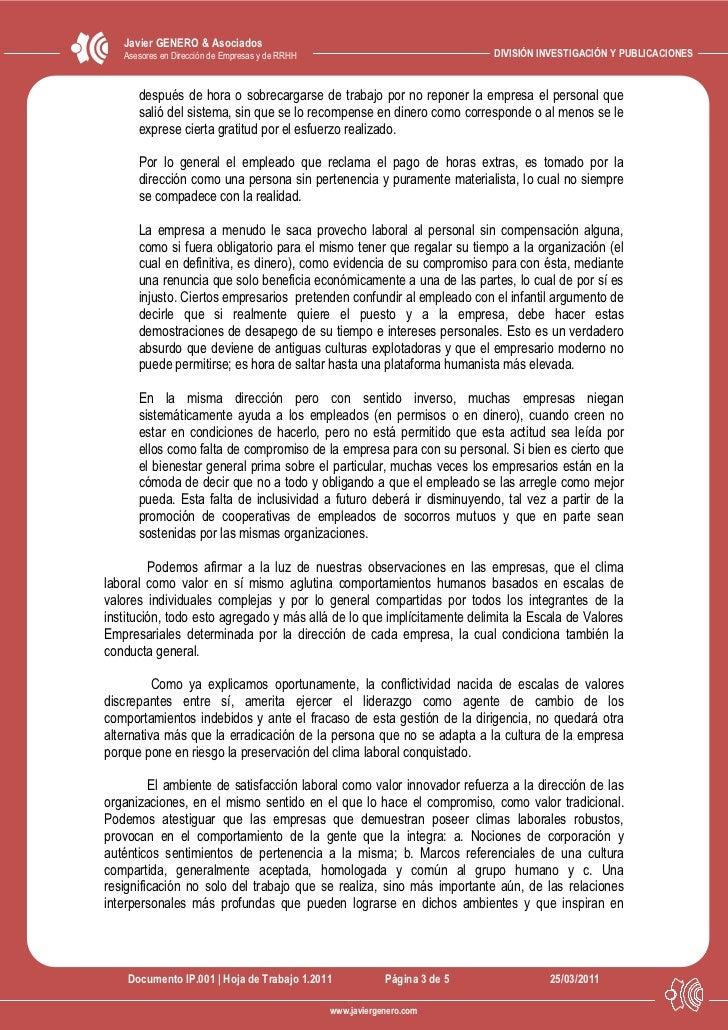 Javier GENERO & Asociados   Asesores en Dirección de Empresas y de RRHH                               DIVISIÓN INVESTIGACI...