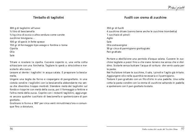 Primi piatti                     Timballo di tagliolini                                               Fusilli con crema di...