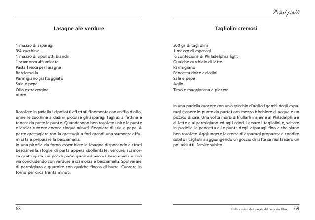 Primi piatti                     Lasagne alle verdure                                                         Tagliolini c...