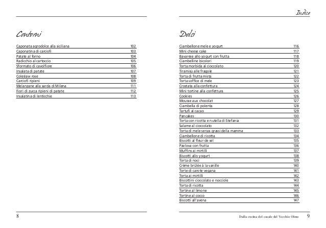 IndiceContorni                                   DolciCaponata agrodolce alla siciliana   102   Ciambellone mele e yogurt...