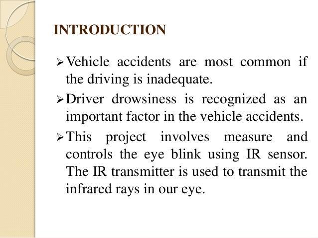 vechicle accident prevention using eye bilnk sensor ppt
