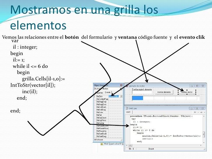 Programa en ejecución <br />Vector cargado, cuando carga <br />el ultimo elemento emite <br />Un mensaje de vector lleno<b...