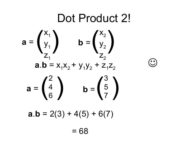 Vector Multiplication Dot Product