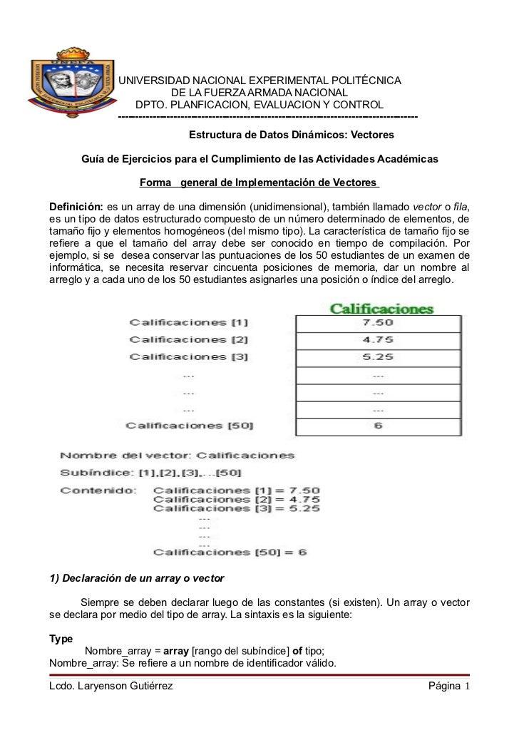 UNIVERSIDAD NACIONAL EXPERIMENTAL POLITÉCNICA                                  DE LA FUERZA ARMADA NACIONAL               ...