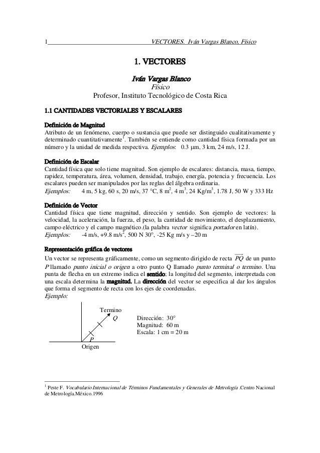 1                                              VECTORES. Iván Vargas Blanco, Físico                                       ...