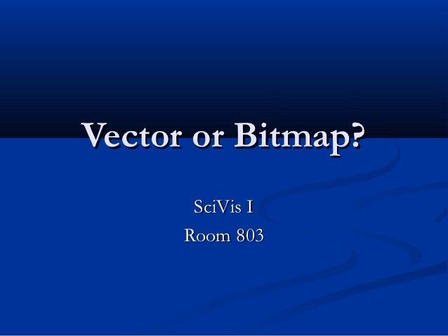 Vector or Bitmap?       SciVis I      Room 803