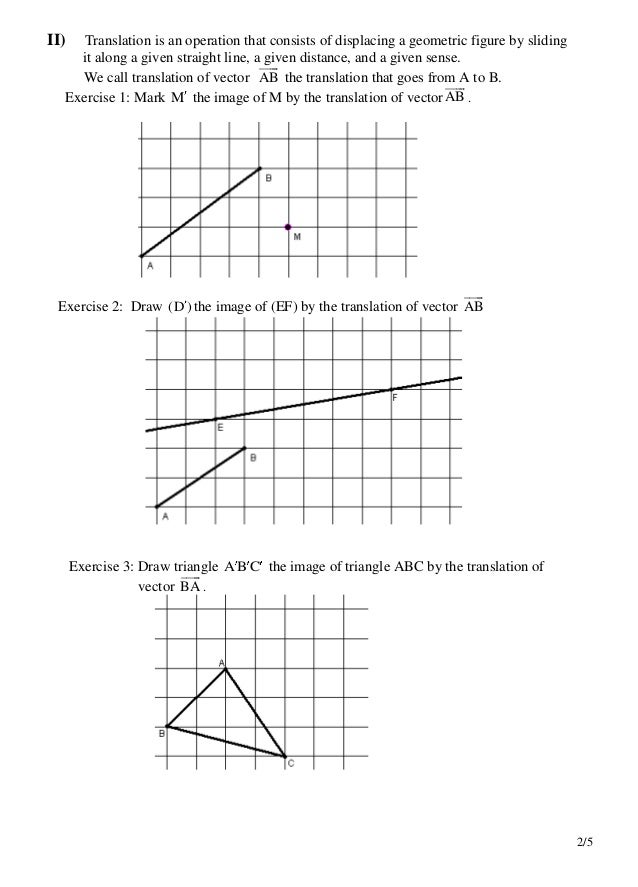 Vectors and translations worksheet – Translations Worksheet