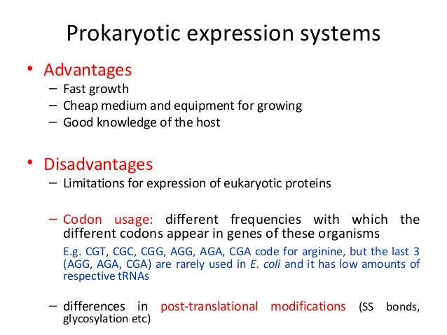 Most of the prokaryotic expression vectors contain one of the following controllable promoters…  • Ptrc (tac) or BAD • λ P...