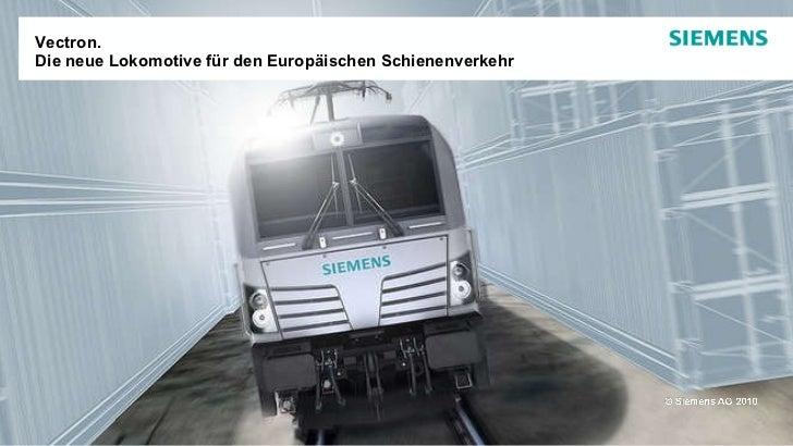 Vectron.  Die neue Lokomotive für den Europäischen Schienenverkehr