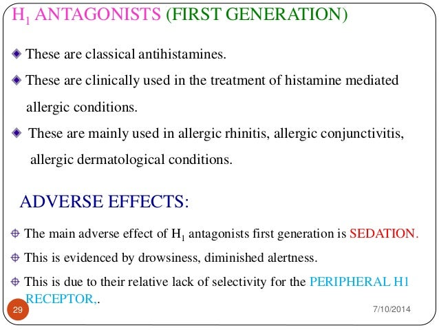 Second-generation non-sedating antihistamine list