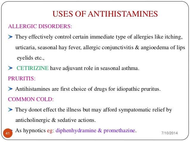Antihistamine Drugs Antihistamines