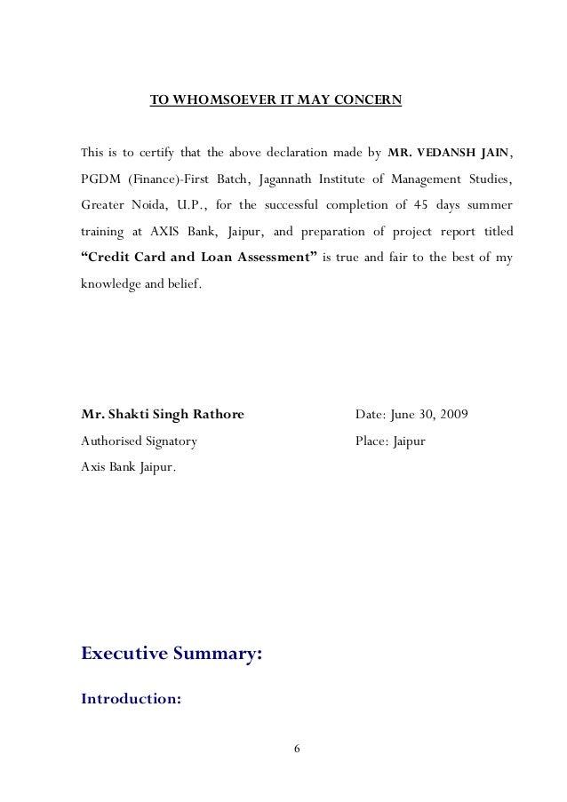 Vedansh Project – No Dues Letter Format