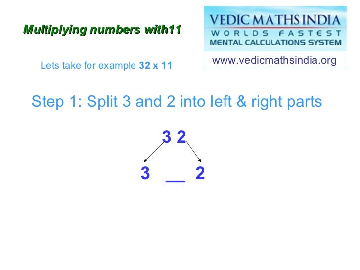 vedic maths multiplying numbers by  in less than five seconds