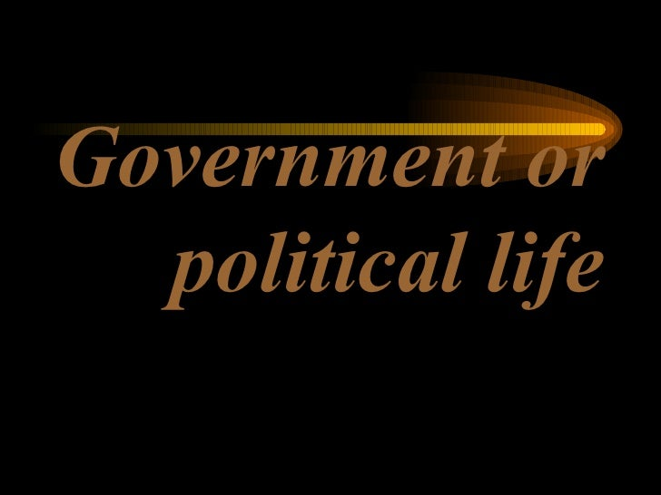 Government or political life