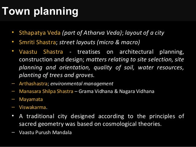 Vedic Principles For Planning Of Cities