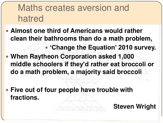 Math curiosity in students