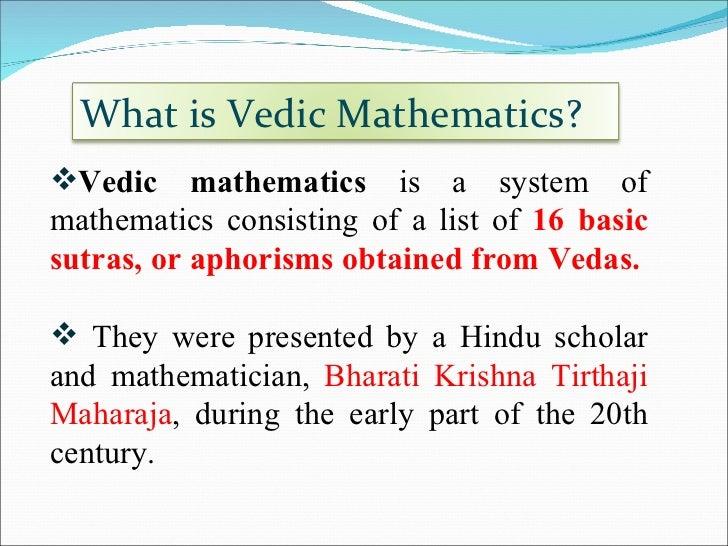 Vedic mathematics by bharati krishna tirthaji