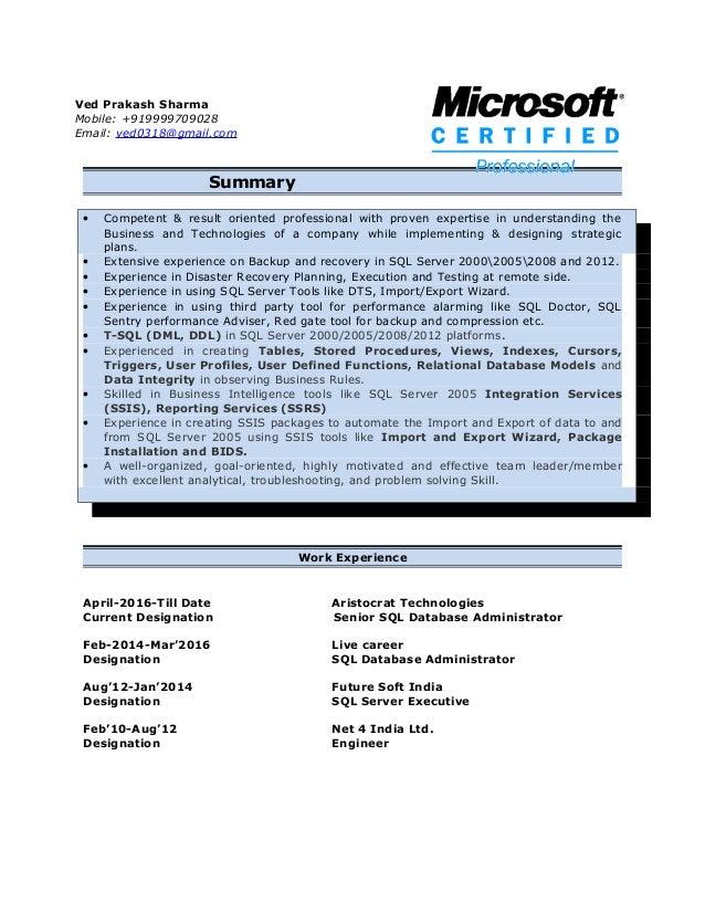 Sql Server Database Administrator