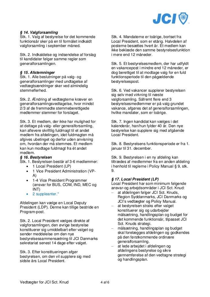 Vedtægter jci sct  knud 2011