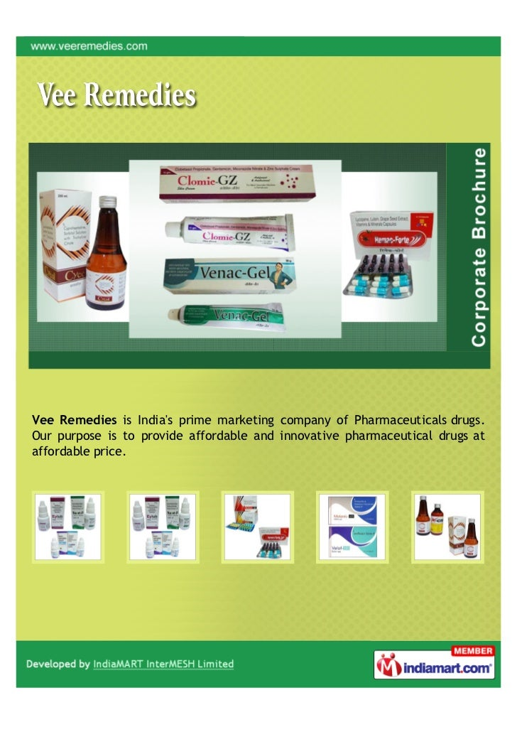 Vee Remedies is Indias prime marketing company of Pharmaceuticals drugs.Our purpose is to provide affordable and innovativ...