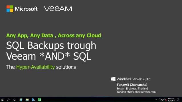 SQL Backup trough Veeam *AND* SQL