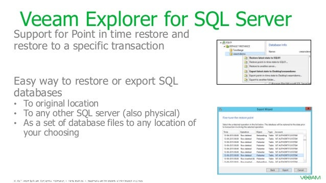 SQL Backup trough Veeam *AND* SQL