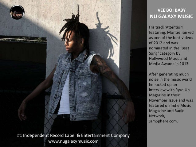 Vee Boi Baby - The stylish hiphop artist from Nu Galaxy Music